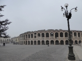 The Arena, Verona. In 1499 a dangerous place to lurk.