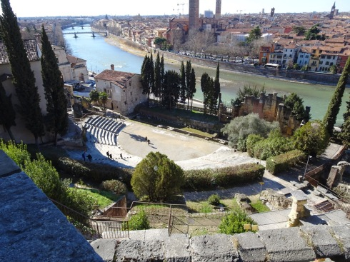 The city from above the Roman theatre