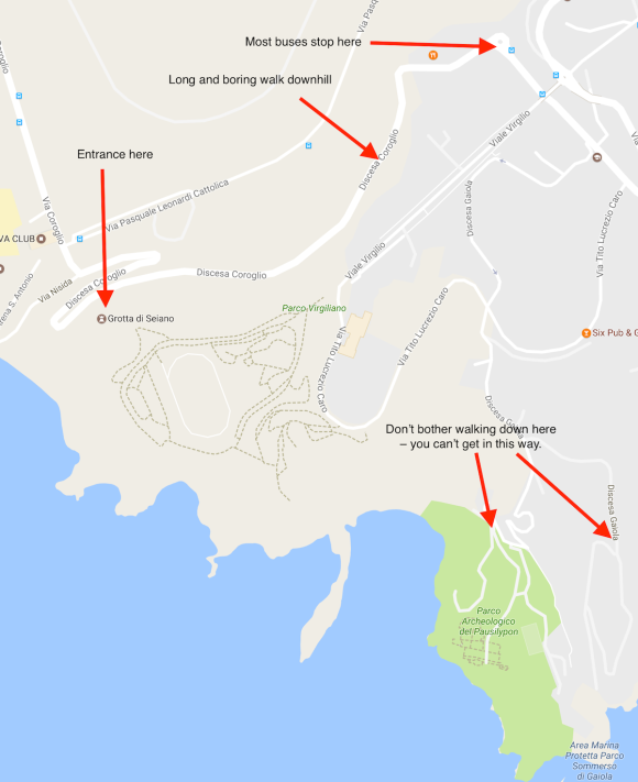 How to find the Grotta di Seiano