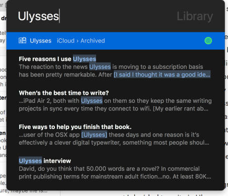 Starting a novel with Ulysses – David Hewson