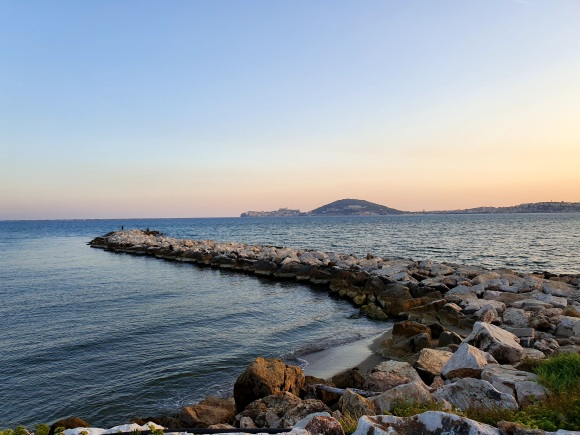 Seafront, Formia, Gaeta in the distance