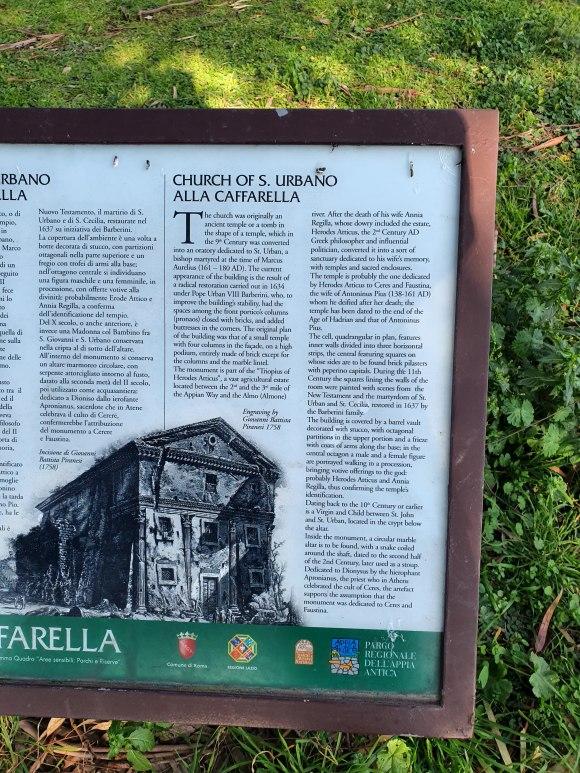 Signpost, Caffarella