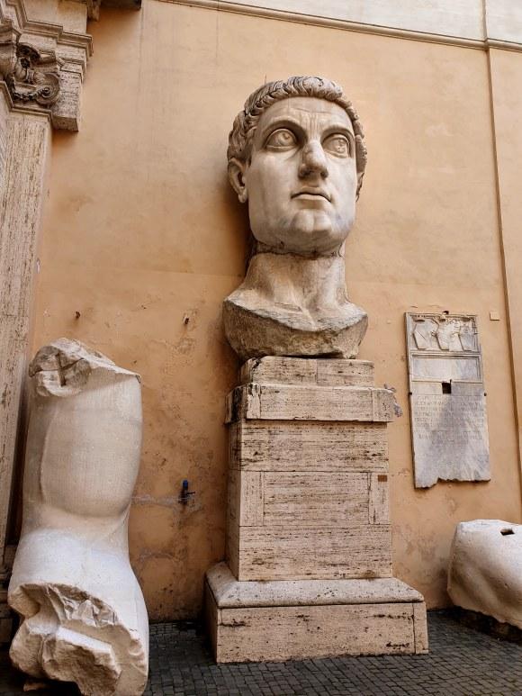 Head of Constantine, Capitoline Museum, Rome