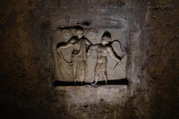 Eros and Psyche, Mithraeum, Capua
