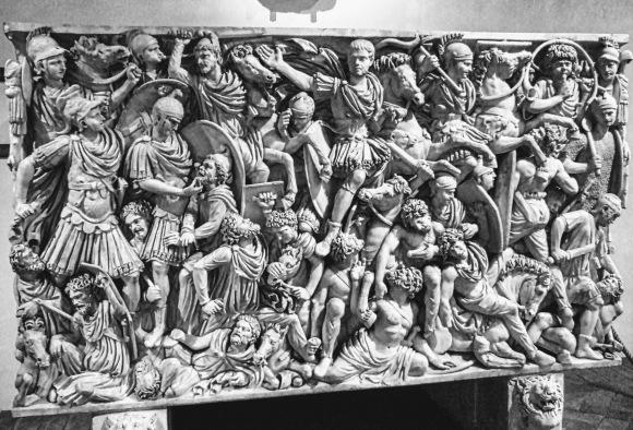 Military sarcophagus, Rome